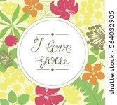 hand lettering i love you ... | Shutterstock .eps vector #564032905