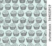 seamless truffle pattern   Shutterstock .eps vector #564033919