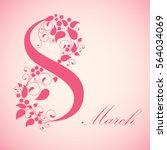 8 march  international women's... | Shutterstock .eps vector #564034069