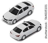 isometric car sedan. urban... | Shutterstock .eps vector #564035101