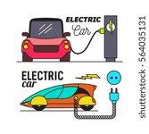 electric car charging. vector...   Shutterstock .eps vector #564035131