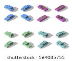 isometric car sedan and cabrio... | Shutterstock .eps vector #564035755