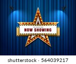 theater sign star shape on... | Shutterstock .eps vector #564039217