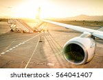 airplane at international...   Shutterstock . vector #564041407