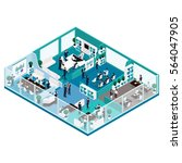 trendy isometric people  office ... | Shutterstock .eps vector #564047905