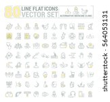vector graphic set.icons in... | Shutterstock .eps vector #564053131