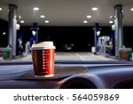 plastic cup was placed in the... | Shutterstock . vector #564059869