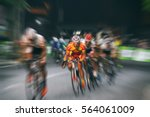 Motion Blur Of Asian Cycling...