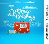 travel bag vector illustration. ... | Shutterstock .eps vector #564063511