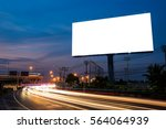 blank billboard for... | Shutterstock . vector #564064939