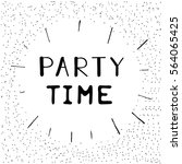 """hand drawn lettering """"party... 