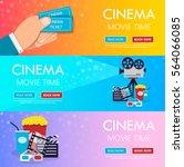 vector flat horizontal banners... | Shutterstock .eps vector #564066085