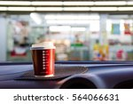 plastic cup was placed in the...   Shutterstock . vector #564066631