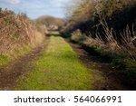 country lane receding into the... | Shutterstock . vector #564066991