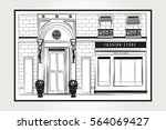 vector shopfront detailed... | Shutterstock .eps vector #564069427