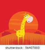 safari animals   cute giraffe... | Shutterstock .eps vector #56407003