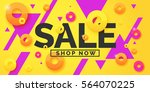 best sale banner. original... | Shutterstock .eps vector #564070225