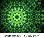Abstract Greenery Background ...