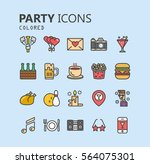 simple modern set of party... | Shutterstock .eps vector #564075301