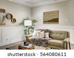 lovely craftsman style living... | Shutterstock . vector #564080611