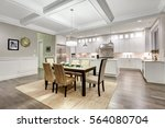 lovely craftsman style dining... | Shutterstock . vector #564080704