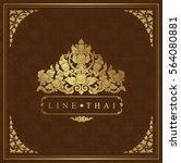 thai art luxury temple ... | Shutterstock .eps vector #564080881
