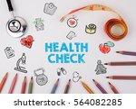 health check concept. healty... | Shutterstock . vector #564082285