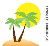 vector beach   Shutterstock .eps vector #56408389