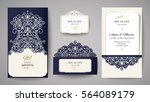 wedding invitation or greeting... | Shutterstock .eps vector #564089179