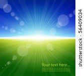 sunlight summer background | Shutterstock .eps vector #56409034