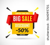 big sale banner. vector... | Shutterstock .eps vector #564095701
