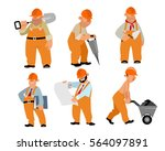 vector illustration of a six... | Shutterstock .eps vector #564097891