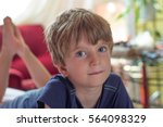 portrait of a boy | Shutterstock . vector #564098329