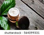 cosmetic bottle container with... | Shutterstock . vector #564099331