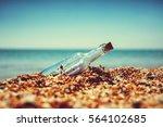 message in bottle | Shutterstock . vector #564102685
