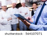 mid section of restaurant... | Shutterstock . vector #564107071