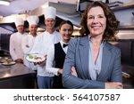 female restaurant manager... | Shutterstock . vector #564107587