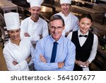 portrait of happy restaurant... | Shutterstock . vector #564107677