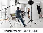 young beautiful female model... | Shutterstock . vector #564113131