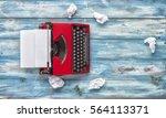 journalists single equipment.... | Shutterstock . vector #564113371