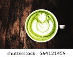 Matcha Green Tea Latte On...