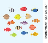 Cute Fish Vector Illustration...