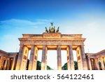 brandenburg gate in berlin at...   Shutterstock . vector #564122461