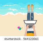 freelance. work outside.... | Shutterstock .eps vector #564123061
