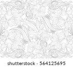 vector illustration of a floral ... | Shutterstock .eps vector #564125695