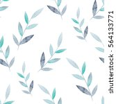 spring pattern of leaves on a... | Shutterstock .eps vector #564133771