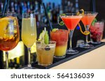 cocktails drinks on bar | Shutterstock . vector #564136039