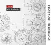 modern technology background... | Shutterstock .eps vector #564136465