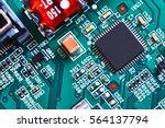 electronic circuit board close... | Shutterstock . vector #564137794