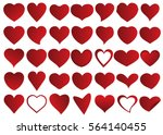 red heart vector icon... | Shutterstock .eps vector #564140455